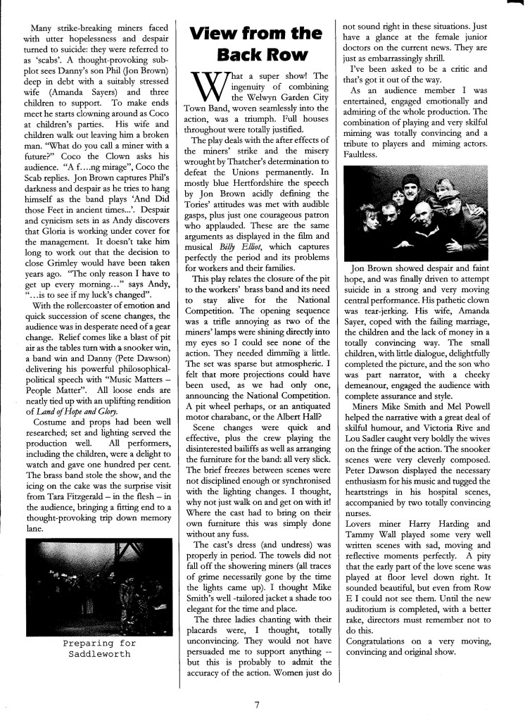 """Barn News - """"Brassed Off"""" Review"""